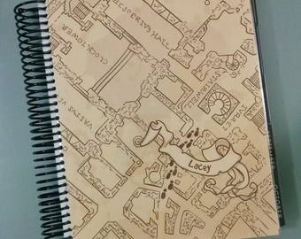 Marauder's Map Personalized Planner Cover / P341