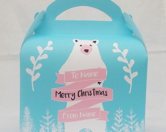 Woodland Christmas Gift Box Party Favour