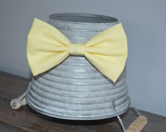 Pastel Light Yellow Easter/ Spring Hair Bow