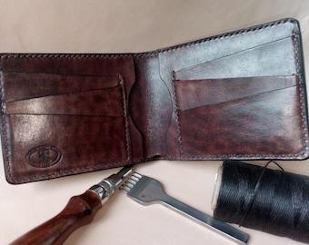 Men's leather wallet/free shipping/classic leather wallet/bifold leather wallet/portafoglio in pelle/кожанный бумажник/кожанный кошелек.