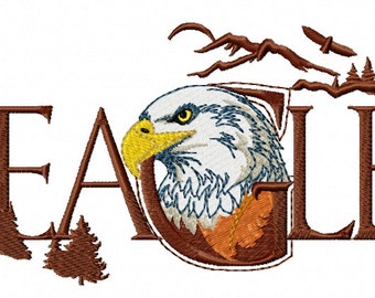 EAGLE WORD - Machine Embroidery Design