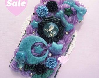SALE- Creepy Cute Sailor Moon iPhone 6 Plus Decoden Case, Creepy Cute Decoden, Sailor Moon Phone Case, Kawaii Decoden Case, iPhone