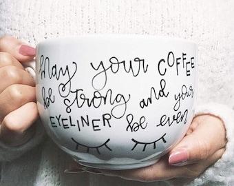 custom hand lettered mug / personalized mug