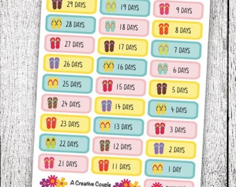 Countdown to Summer Planner Stickers