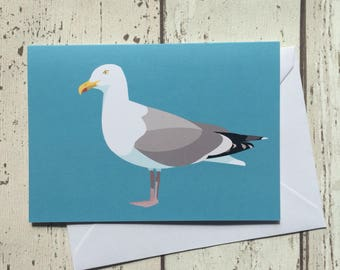 Seagull greeting card - blank inside