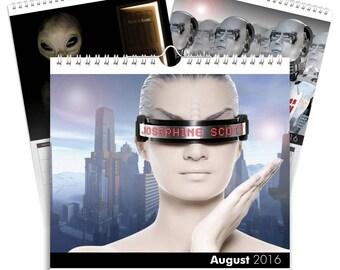 Personalised Sci-Fi Calendar - Desktop Calendar