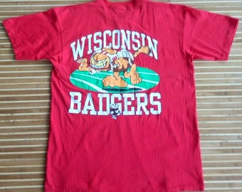 Vtg Wisconsin Of University WISCONSIN BADGERS T-Shirt Made In Usa