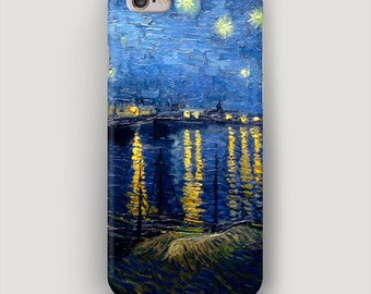Art iPhone 7 Case, iPhone 6 Case Starry Night Over the Rhone, iPhone 6 Plus Case, Van Gogh iPhone Case, Art iPhone 5 Case, Apple 6S Case
