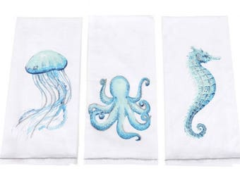 Coastal Dish Tea Towels
