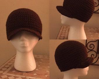 Brown Crocheted Cap