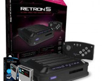 RetroN 5 Gaming Console and Retron 5 3-in-1 Adapter