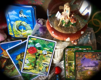 Faerie Card Reading, Sidhe Card Reading, Mermaid Oracle, Mystical Reading, Faerie Faith Contemplation