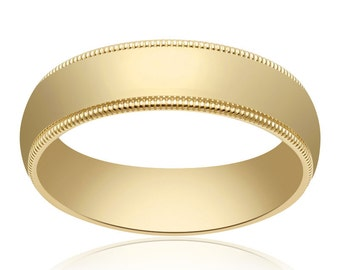 5.0mm 14K Yellow Gold Comfort Fit Band