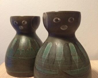 Sweet pair of hyacinth vases