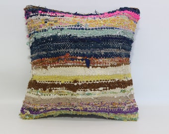 anatolian turkish kilim pillow cushion cover 20x20 striped pillow multicolour pillow kilim decorative kilim pillow sofa pillow SP5050-1067