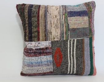 Bohemin Cushion Cover Vintage Pillow 20x20  Designer Kilim Pillow Throw Pillow Bed Pillow Ethnic Pillow  SP5050-1207