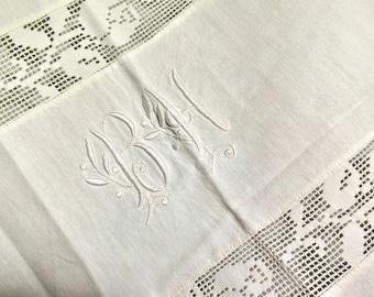 Linensheet rose laces French Bedclothes - Drap de Lin Monogram