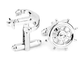 Anchor Cufflinks -k96 Free Gift Box*