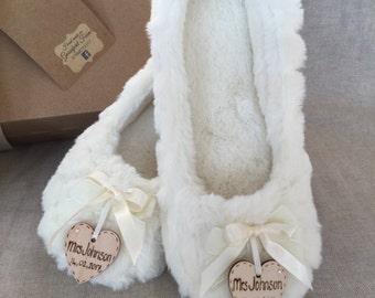 Bride Personalised slippers