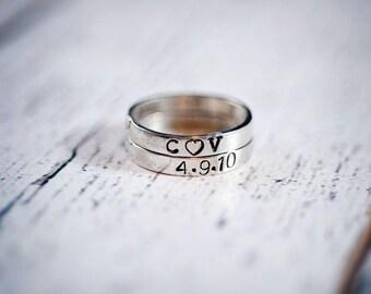 Custom Ring, Personalized ring, Name Ring, Stackable ring, Stacking rings, hand stamped ring, stackable name ring, personalized jewelry