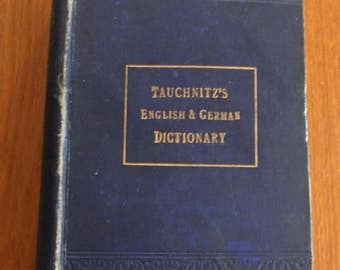 1898 German Dictionary