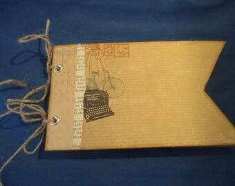 Banner album, Chipboard album, Scrapbook tag album, pockets with tags