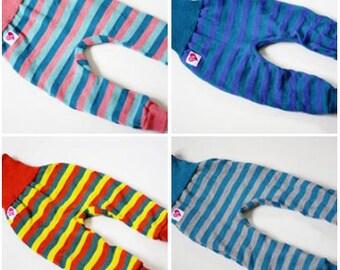 Striped wool longies! 100% merino! Super soft! NB/S