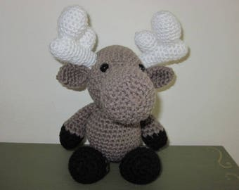 Moose Baby Handmade Amigurumi Crocheted Gift Toy