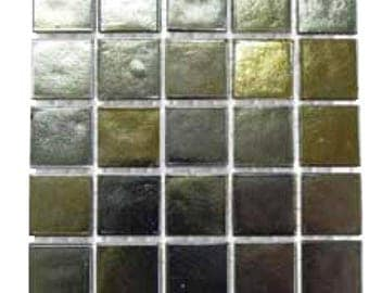 """Gold and Silver iridescent Glass Tiles 9/16"""""""