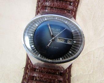 SOVIET POLJOT Stadium USSR rare vintage men's mechanical wristwatch N3