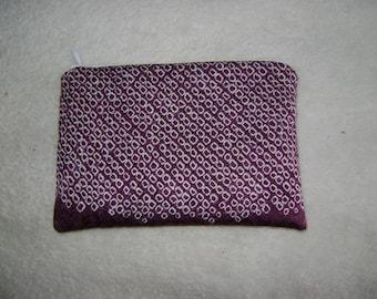 Silk Coin Purse or Small Cosmetic Bag from Repurposed Silk Kimono