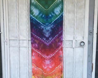 Chevron Rainbow Scarf Shawl | rainbow shawl scarf rainbow oversized scarf rainbow stripes ice dye rainbow scarf