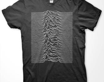 Pulsar CP 1919 - Screen Printed T Shirt - Joy Division - Unknown Pleasures
