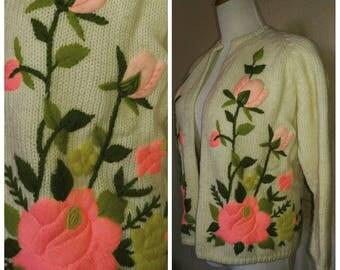 Vintage Rose floral Cardigan