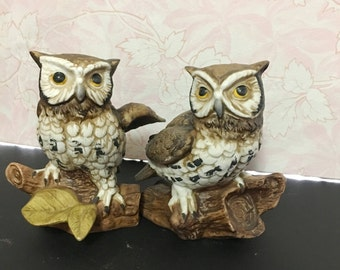 Vintage Homeco-Home Interior- Owl Figurines