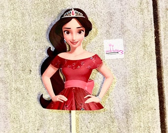 Elena of Avalor, cupcake toppers, cakepop Toppers, cake Topper