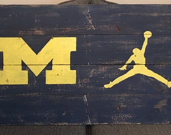 Michigan / Jordan 36x20 Pallet Sign