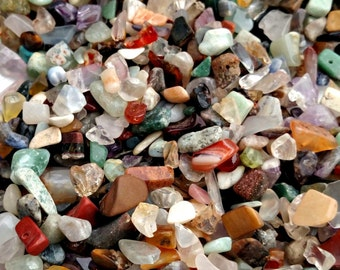 Multi-Gemstone Mix,Assorted mixed lot 50 grams Undrilled stones, Embellishment mix,small to medium chip & nugget stones, Jewelry Supply Lot