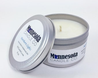 Northern Lights- 8oz. Handcrafted Soy Wax Candle - Minnesota Candle Co.