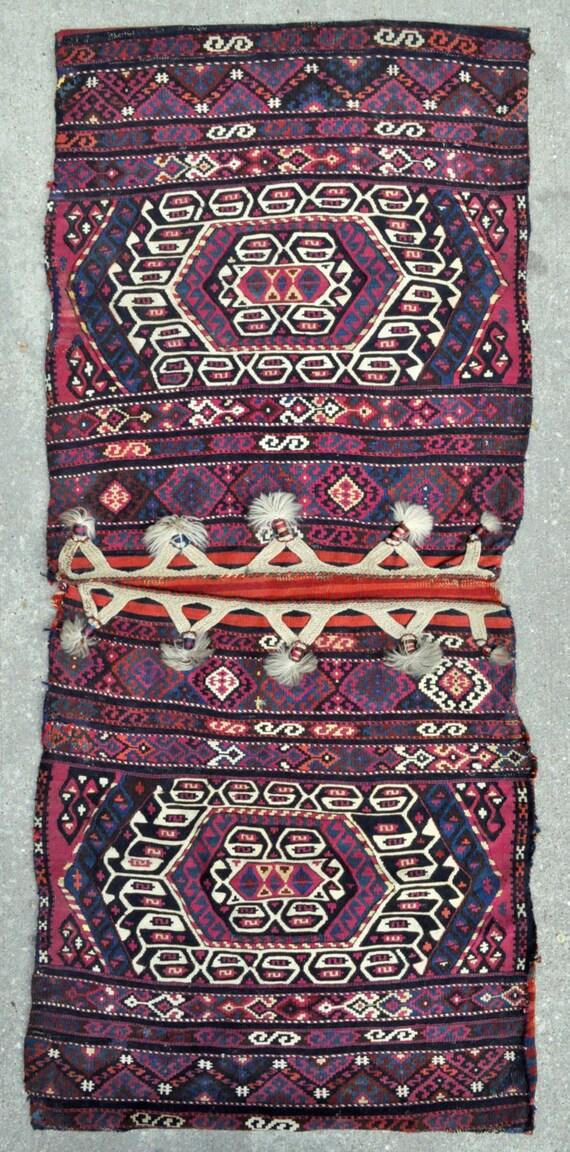 "Nomadic Saddle bags - East Anatolian Tribal bags - 26"" x 63"" - Free shipping!"