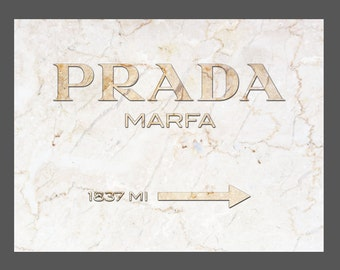 "Prada Marfa Marble Canvas Print Gold - GOSSIP GIRL 30""x40"""