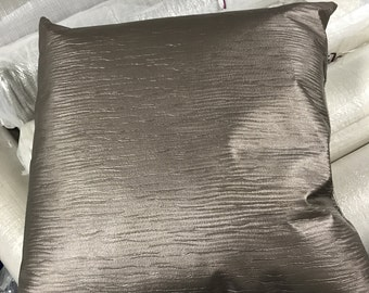 Waterfall Faux Leather decorative pillow 20 x 20