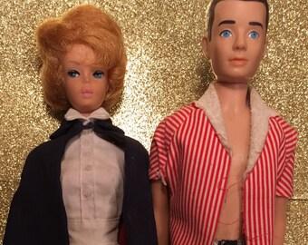 SALE!!!! 1962 Bubble Cut Barbie, 1960's Ken Doll,  Blonde Barbie