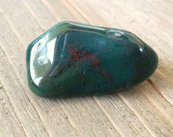 Bloodstone Crystal - Bloodstone Rock - Polished Bloodstone - Healing Crystal Stone - Tumbled Crystal - Reiki Infused Rocks - Reiki Crystal