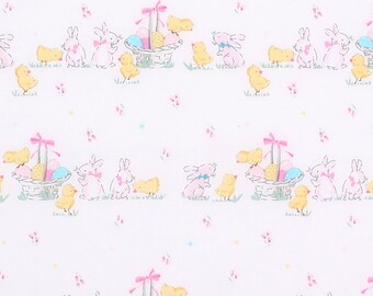 EASTER - SPRING FABRIC! By the Half Yard For Quilting / Bunnies - Chicks - Baskets - Pastels