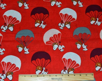 SNOOPY Red Baron FABRIC!  1/2 Yard For Quilting / Peanuts