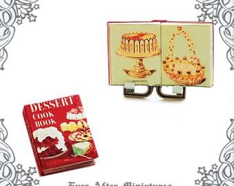 DESSERT Cook Book Dollhouse Miniature Book – 1:12 Vintage Cake Miniature Book Sweet Book Miniature Baking Book Cook Book Printable DOWNLOAD
