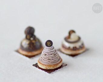 Dollhouse Miniature Mont Blanc Dessert - Russian Collection - Miniature Food - 12th Scale - 1/12 Scale Dollhouse Miniatures