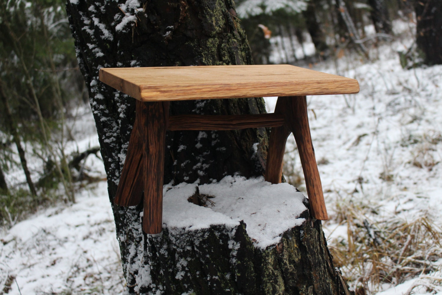 Rustic Step Stool Bathroom Stool Wooden Small Stool By Woodber