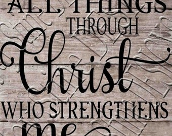 I can do all things through Christ  SVG, PNG, JPEG